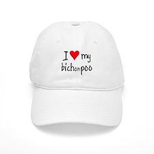 I LOVE MY Bichonpoo Baseball Cap