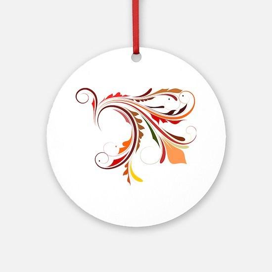 Harvest Flourish Ornament (Round)