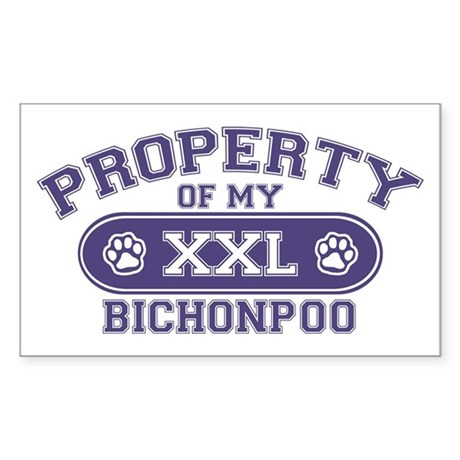 Bichonpoo PROPERTY Sticker (Rectangle)
