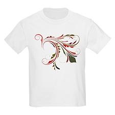 Red & Green Flourish T-Shirt