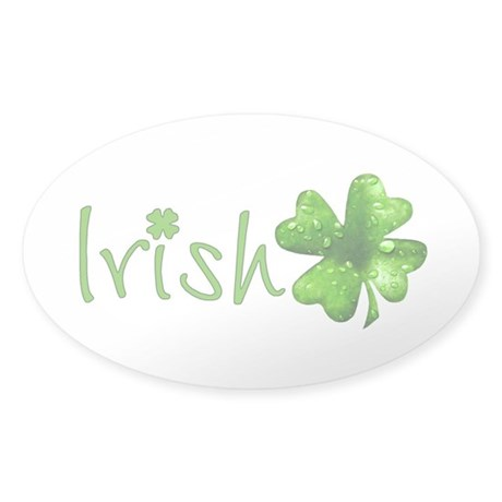 Irish Keepsake Sticker (Oval)