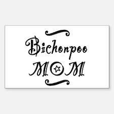 Bichonpoo MOM Sticker (Rectangle)