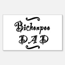 Bichonpoo DAD Sticker (Rectangle)
