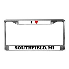 I Love Southfield License Plate Frame