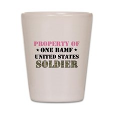 Unique Army brat mom Shot Glass