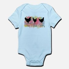 Peace Love And Poultry Infant Bodysuit