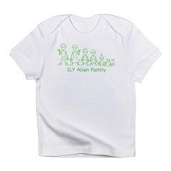 ILYAlienFamilyText Infant T-Shirt