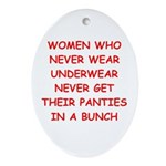panties Ornament (Oval)