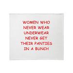 panties Throw Blanket