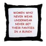 panties Throw Pillow