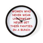 panties Wall Clock