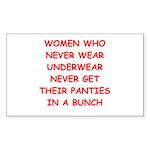 panties Sticker (Rectangle 50 pk)