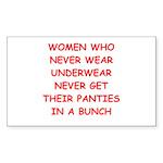 panties Sticker (Rectangle 10 pk)