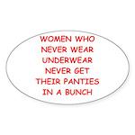 panties Sticker (Oval 10 pk)