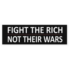 Fight The Rich - Car Sticker