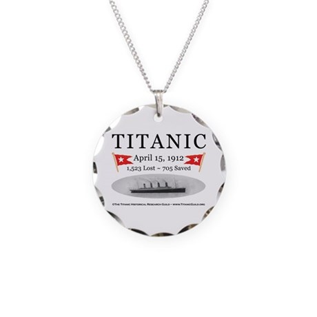 Titanic Ghost Ship (white) Necklace Circle Charm
