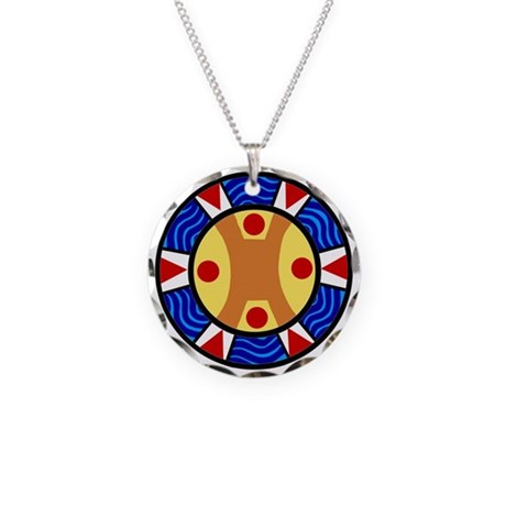 UCTP TAINO LOGO Necklace Circle Charm