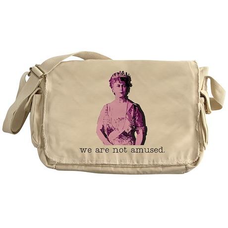 NOT AMUSED Messenger Bag