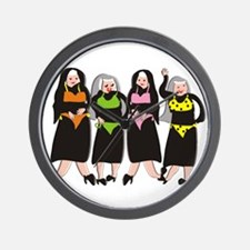 Catholic Nuns Christmas Wall Clock