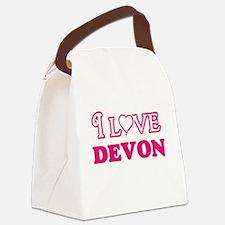 I Love Devon Canvas Lunch Bag