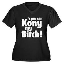 I'm Gonna Make Kony My Bitch Women's Plus Size V-N