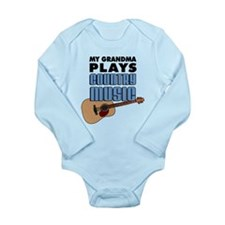 Grandma Plays Country Music Long Sleeve Infant Bod