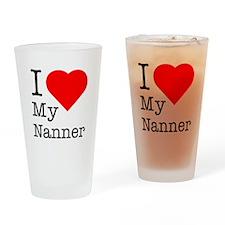 I Love My Nanner Drinking Glass