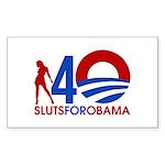 Sluts for Obama Sticker (Rectangle 10 pk)