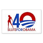 sluts for obama 5 Sticker