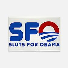 Unique Sluts vote Rectangle Magnet (10 pack)
