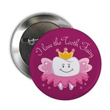 """I Love The Tooth Fairy 2.25"""" Button"""