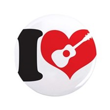 """I Love Uke 3.5"""" Button"""