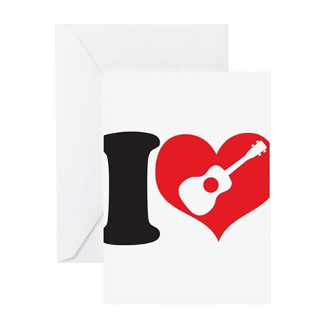 I Love Uke Greeting Card