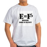 Musicians theory of relativity Mens Light T-shirts
