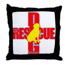 Rescue Dog Savior #4 Throw Pillow