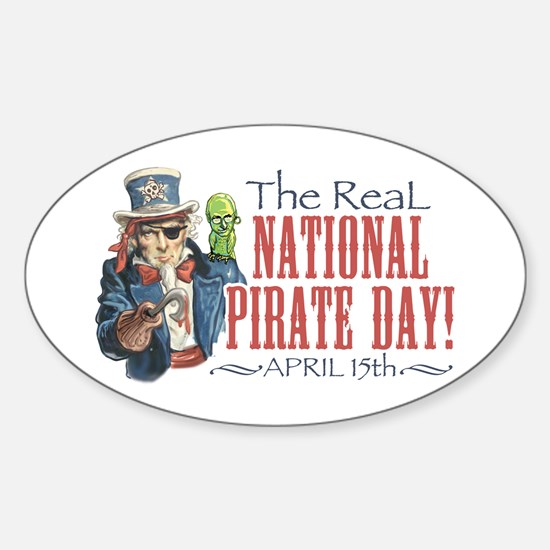 National Pirate Day Oval Decal