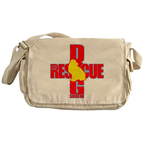 Rescue Dog Savior #8 Messenger Bag