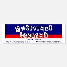PoliticalBeeatch Sticker (Bumper)