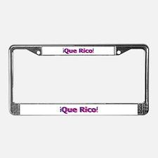 Que Rico License Plate Frame