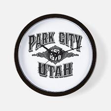 Park City Black Silver Wall Clock