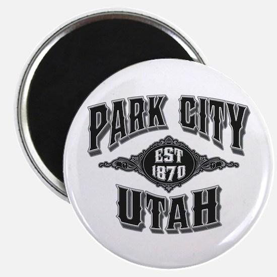 Park City Black Silver Magnet