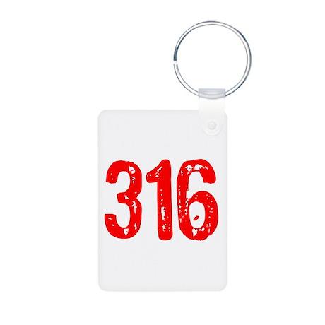 316 Aluminum Photo Keychain