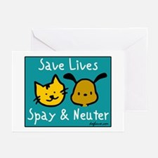 Save Lives Spay & Neuter Greeting Cards (Package o