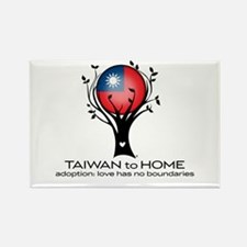 Taiwan to Home Rectangle Magnet