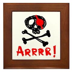Arrrr! Funny Pirate Framed Tile