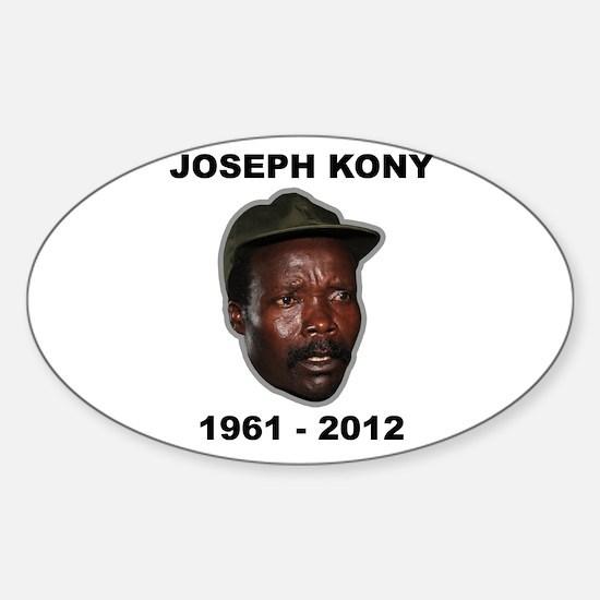 Kony 2012 Obituary Sticker (Oval)
