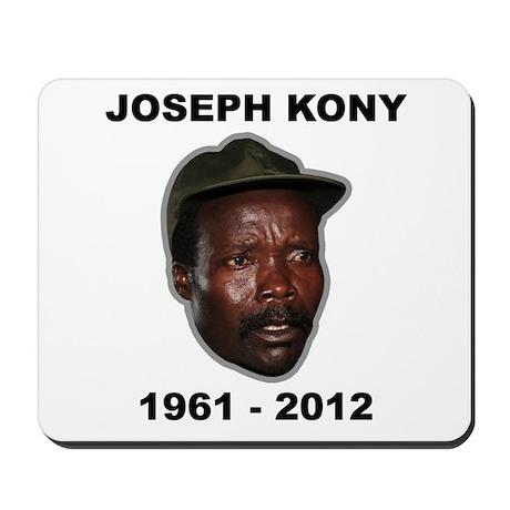 Kony 2012 Obituary Mousepad
