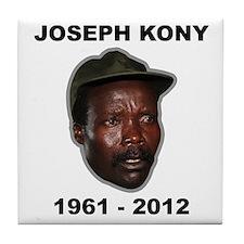 Kony 2012 Obituary Tile Coaster