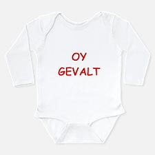 yiddish Long Sleeve Infant Bodysuit