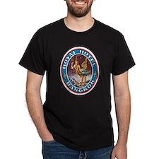 Bangkok Thailand (Front) Black T-Shirt